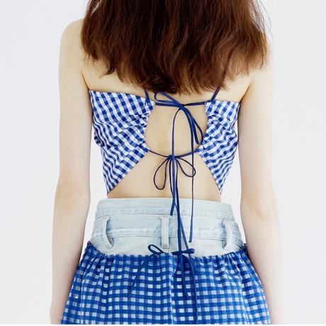 Bonding Dress_GINGHAM/BL