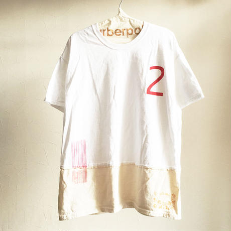 バイカラー WIDE Tee/WHITE×NATURAL
