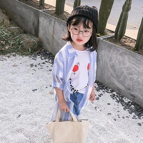 ★シースルーストライプロングシャツ★