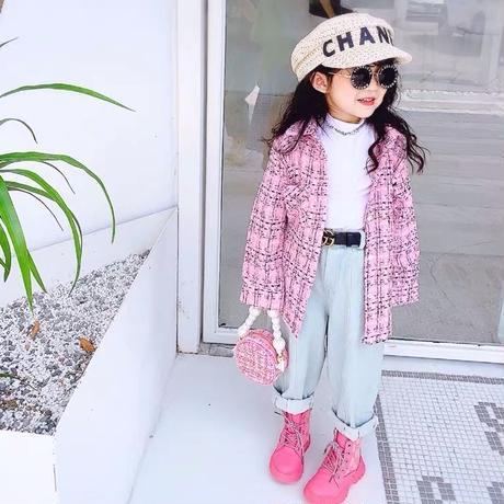 ★ピンクツイードシャツ★
