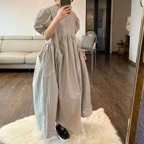 (即納)シンプルボリュームドレス ladies