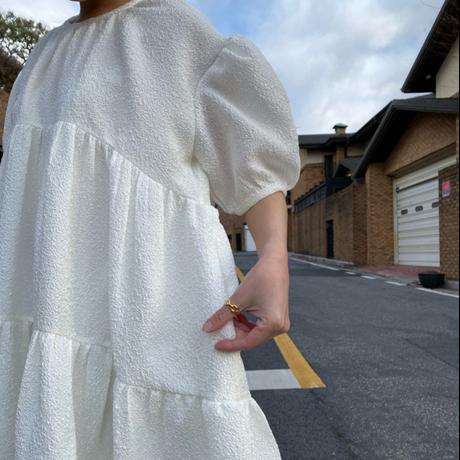 (即納)ジャガードパフドレス ladies