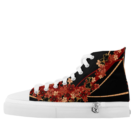 Flower and Butterfly HIGH TOP SHOES