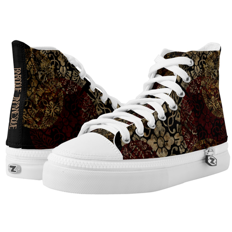 Kamon design HIGH TOP SHOES
