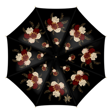 和風菊と牡丹 傘