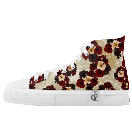 Hibiscus HIGH TOP SHOES