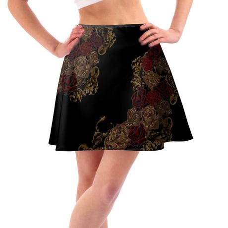 ジャパネスクローズとバロック装飾 フレアスカート