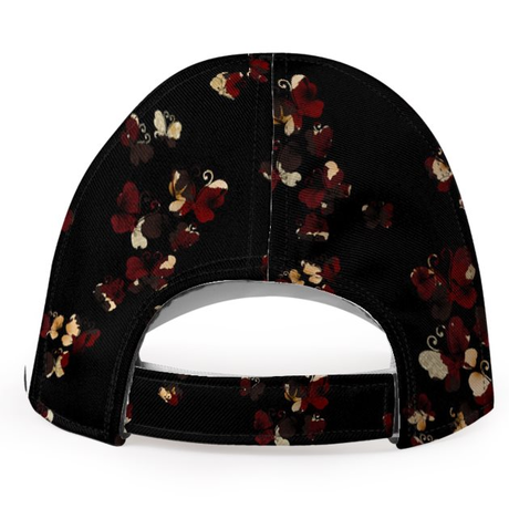 Flower and Butterfly Baseball Cap