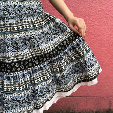 Vintage provence tiered skirt