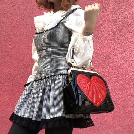 Banned apparel heart break kiss rock hand bag