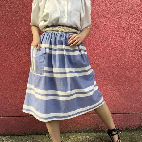 Vintage blue stripe france skirt