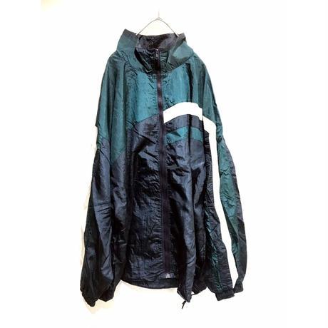 【big size 】multi-color full zip nylon blouson