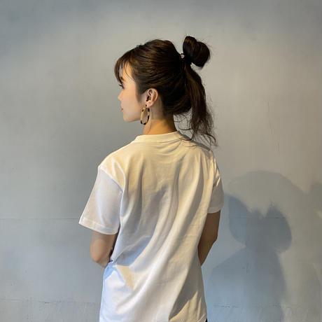 """B LOGO"" T-shirt White/Blue"