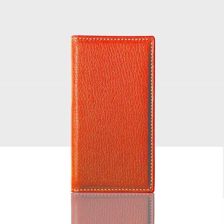 シェーブルレザー スマートフォンケース(iPhone7/iPhone8用) オレンジ