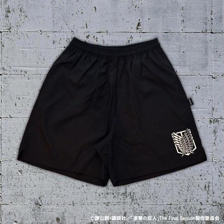 """""""調査兵団エンブレム"""" SHORTS / BLACK"""