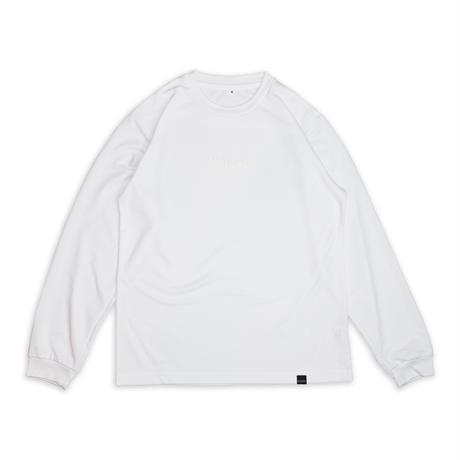 LOGO LONG T-SHIRT / WHITE & WHITE