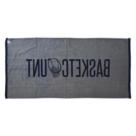 LOGO BATH TOWEL  / NAVYxGRAY