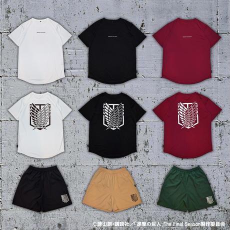 """""""調査兵団エンブレム"""" T-SHIRT / BLACK"""
