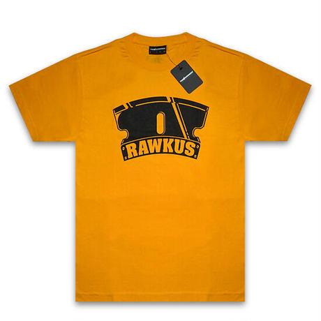 THE HUNDREDS×RAWKUS Tシャツ -RAWKUS T-SHIRT / GOLD-
