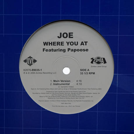 Joe Feat. Papoose // Where You At // RJ019A