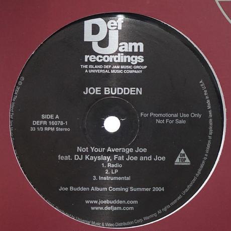 Joe Budden // Not Your Average Joe // HJ035A