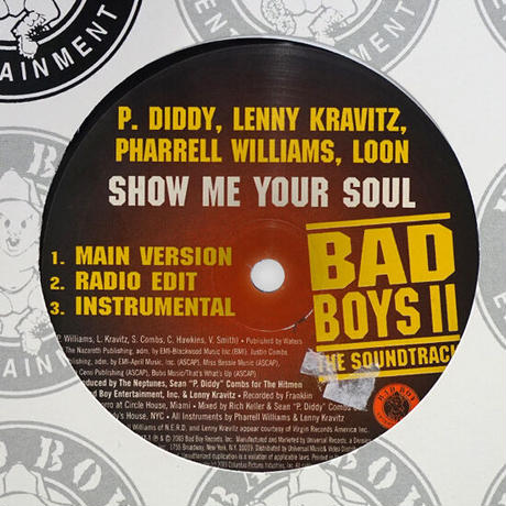P. Diddy / Lenny / Pharrell / Loon / Snoop Dogg // Show Me Your Soul / Gangsta Sh*t // HP052A