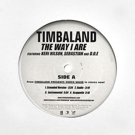 Timbaland // The Way I Are / Give It To Me // HT054A