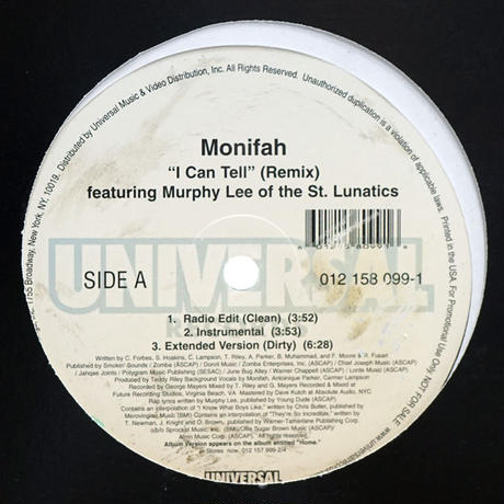 Monifah - I Can Tell (Remix) RM003A