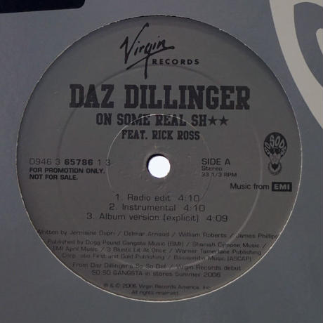 Daz Dillinger // On Some Real Shit // WD038A