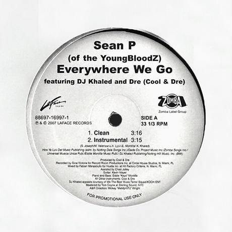 Sean P. Featuring DJ Khaled and Dre // Everywhere We Go // HS066A