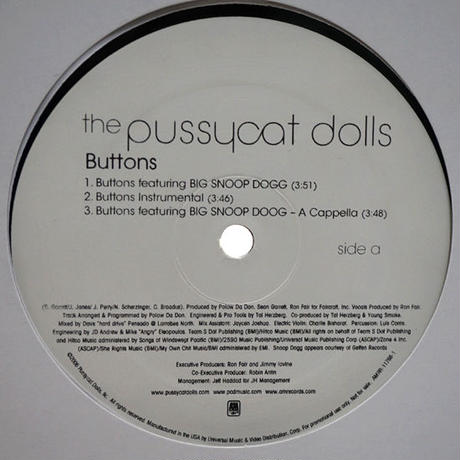 The Pussycat Dolls Featuring Big Snoop Dogg // Buttons // RP007A