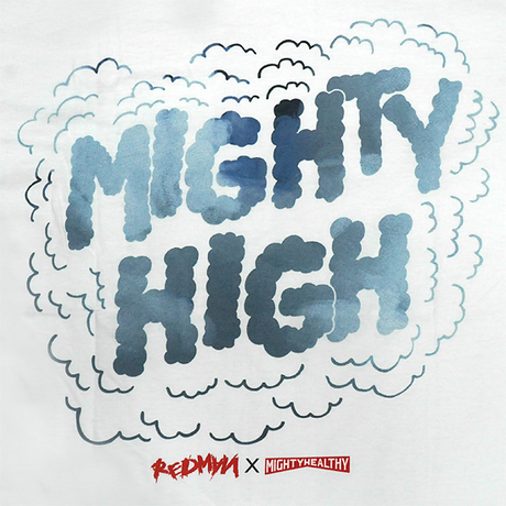 MIGHTYHEALTHY x REDMAN Tシャツ -Mighty Hight / WHITE-