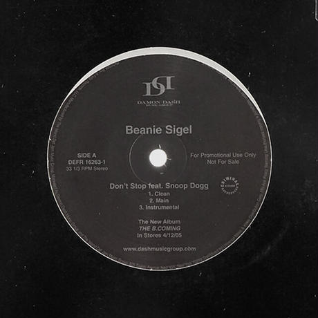 Beanie Sigel // Don't Stop // HB044A