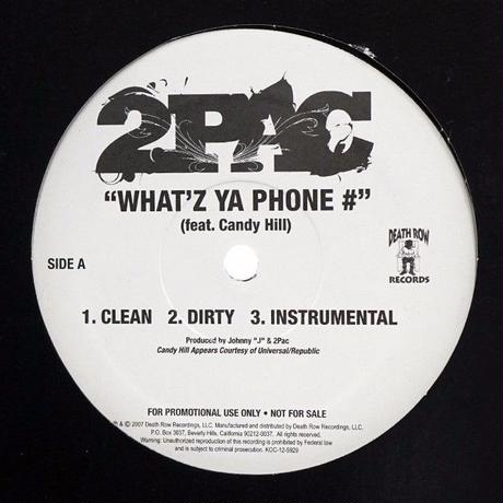 2pac // What'z Ya Phone # // W99048A