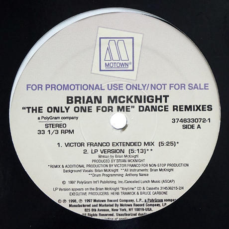 Brian McKnight - The Only One For Me Remixes
