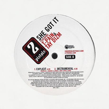 2 Pistols Feat. T-Pain & Tay Dizm // She Got It // H99023A