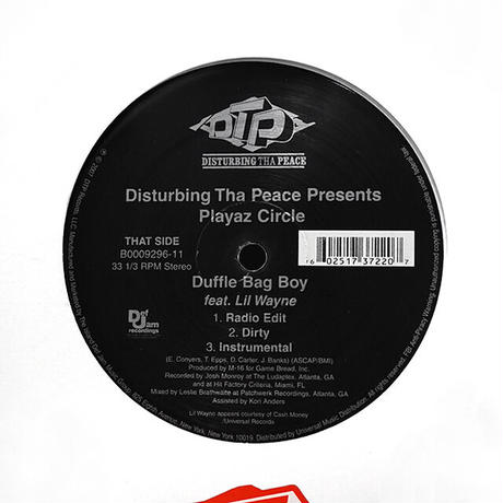 Disturbing Tha Peace / Playaz Circle // Celebrity Chick / Duffle Bag Boy // HD040A