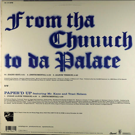 Snoop Dogg - From tha chuuch to da palace