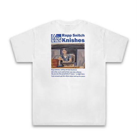 """RAP ATTACK Tシャツ -""""Rapp Snitch Knishes""""Tee / WHITE-"""