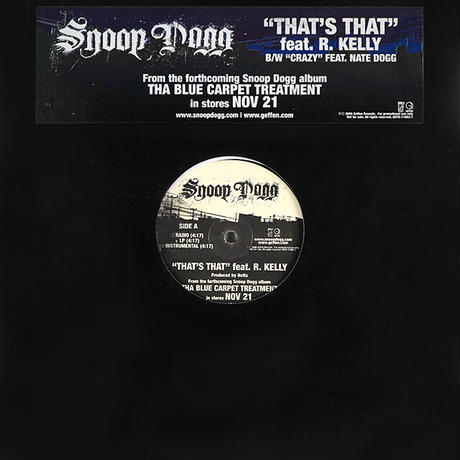 Snoop Dogg // That's That / Crazy // WS057A