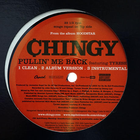 Chingy // Pullin' Me Back // HC023A