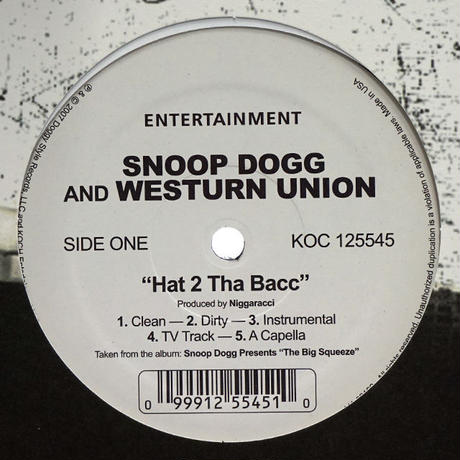Snoop Dogg & Western Union // Hat 2 The Back // WS043A