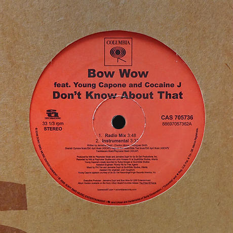Bow Wow // Don't Know About That // HB028A