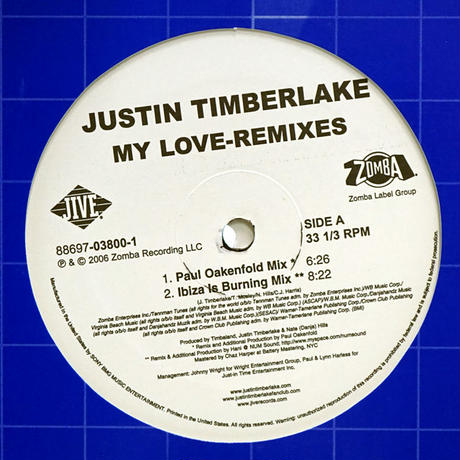 Justin Timberlake // My Love Remixes // RJ005A