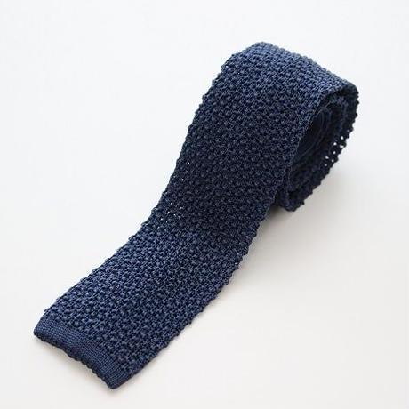 Silk Knit Tie/Navy