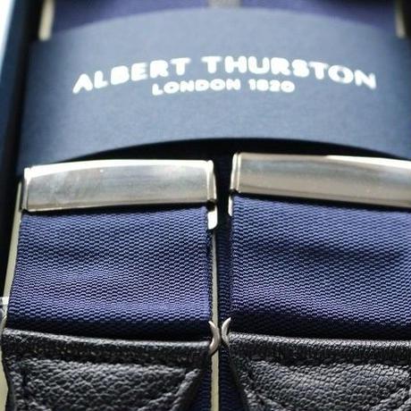 Albert Thurston Braces/Ribbon Navy
