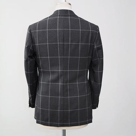 Original Drape Cut Suit/Grey Windowpane 3PC