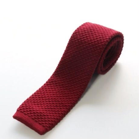 Wool Knit Tie/Red