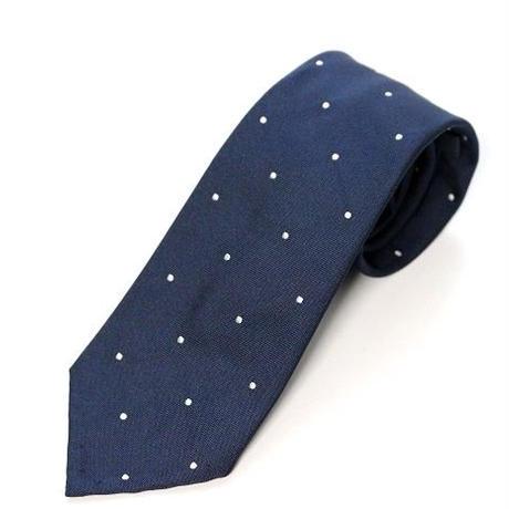 Polka Dot Tie/Navy