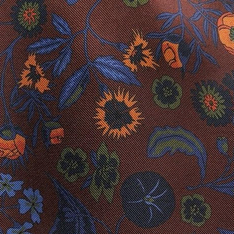 Adamley Ascot Tie/Brown Flower